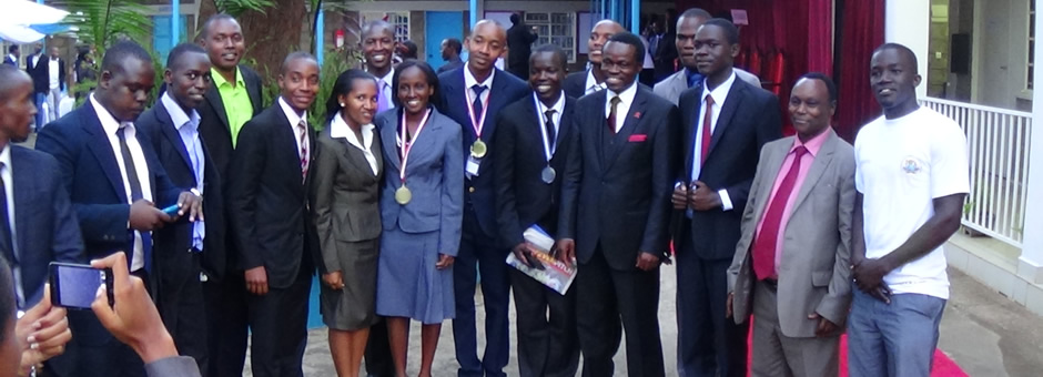 Participants pose with Prof PLO Lumuba after the closing Ceremony of the 2014 AKMCC.jpg